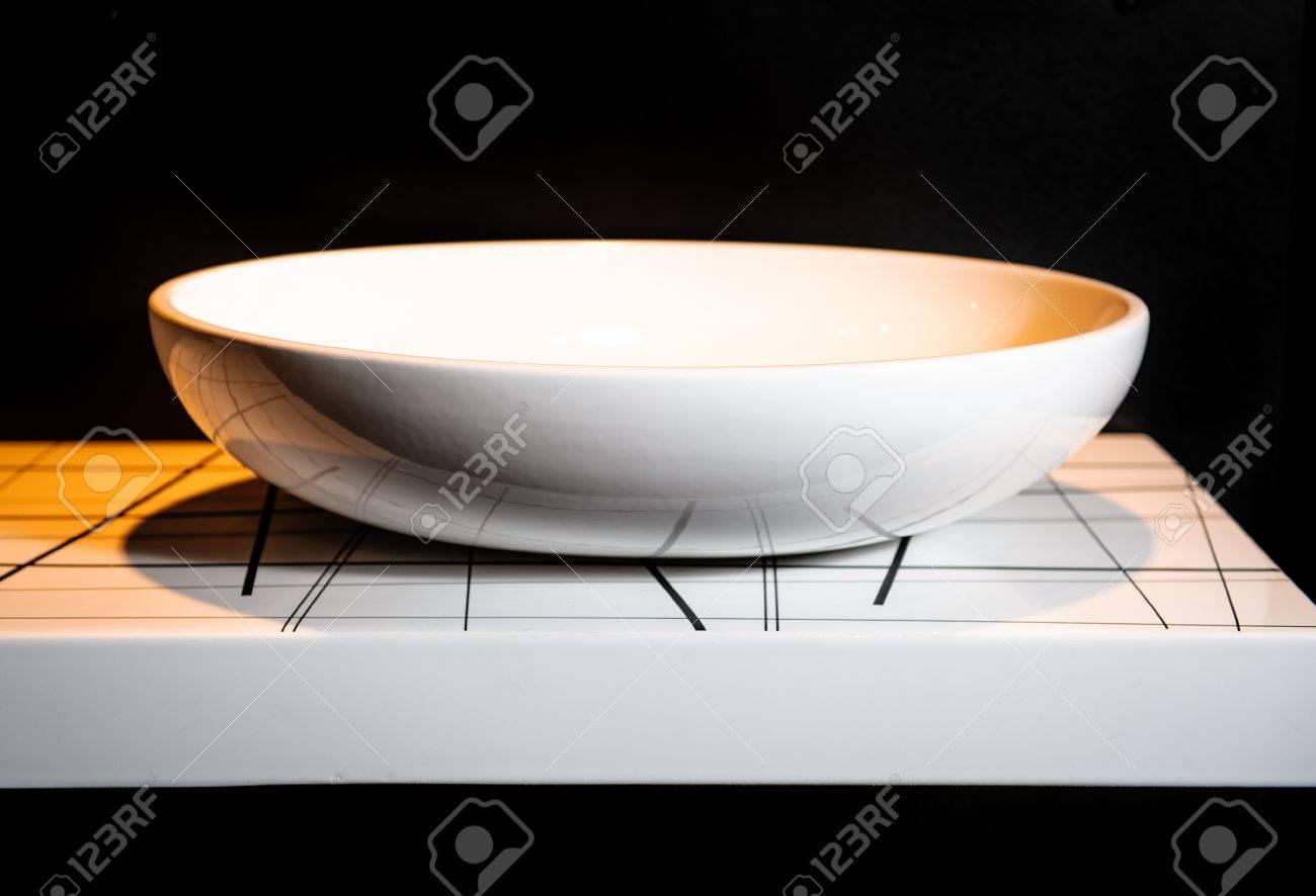 Modern ceramic white washbasin Stock Photo - 18529419