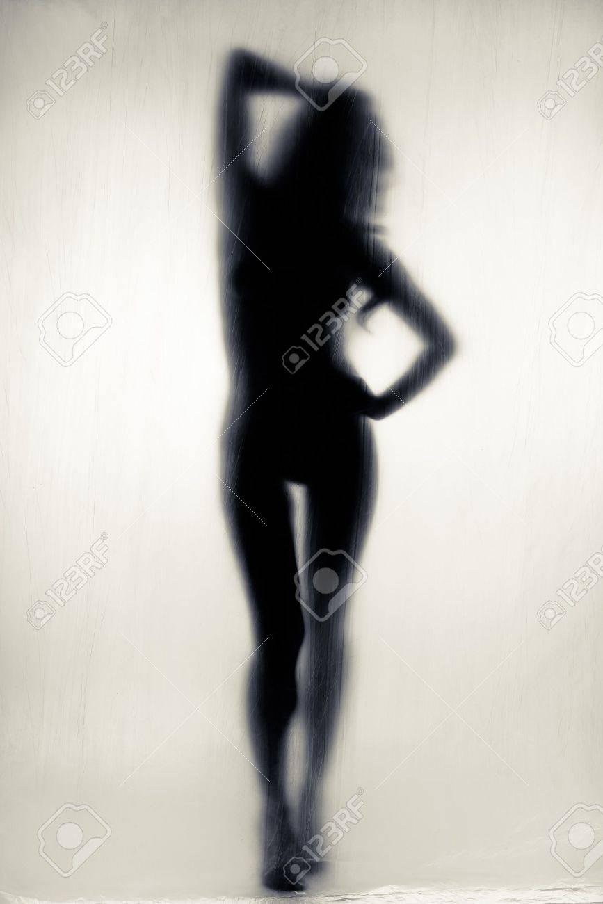 Черно белый силуэт голой девушки 9 фотография
