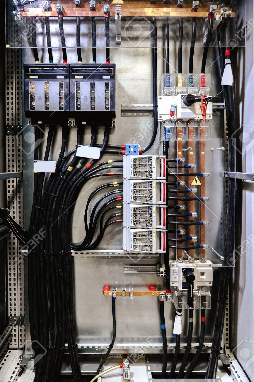 Electrical Panel With Fuses And Contactors Stock Photo, Picture And ...