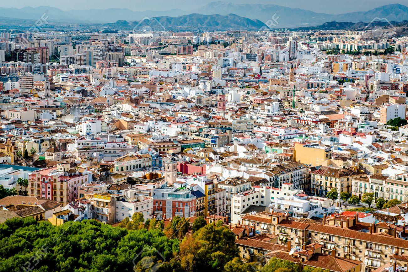 マラガの街並み。アンダルシア州, スペイン の写真素材・画像素材 ...
