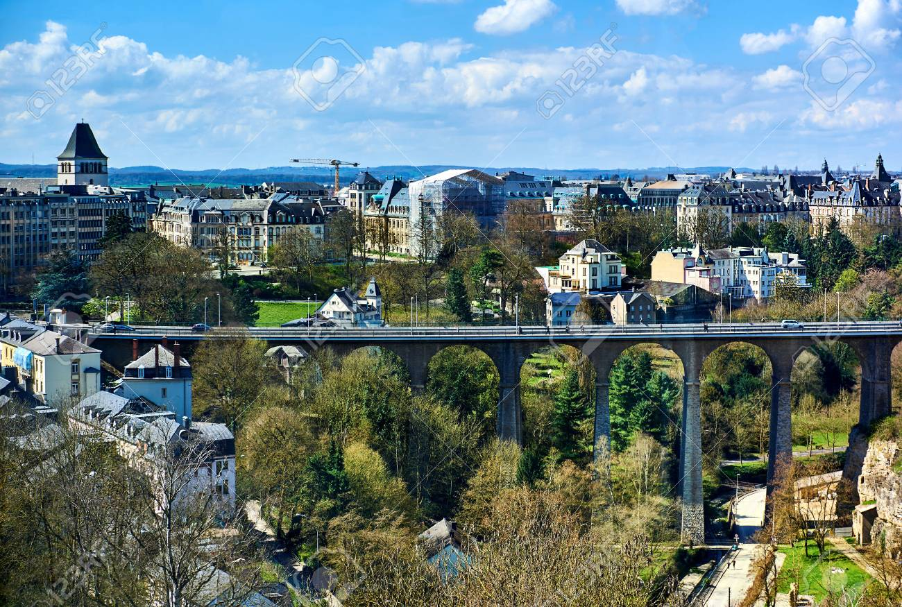 Passerelle bridge in luxembourg city luxembourg western europe passerelle bridge in luxembourg city luxembourg western europe stock photo 63931210 thecheapjerseys Images