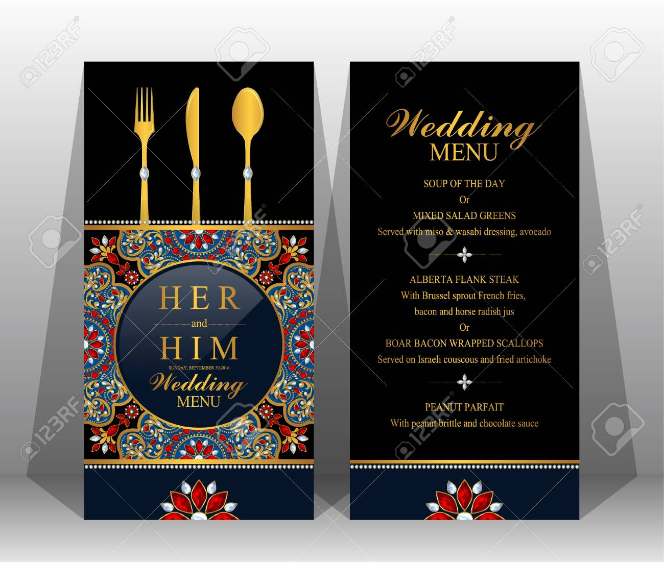 Menu Template On Wedding Reception Royalty Free Cliparts Vectors And Stock Illustration Image 89136688