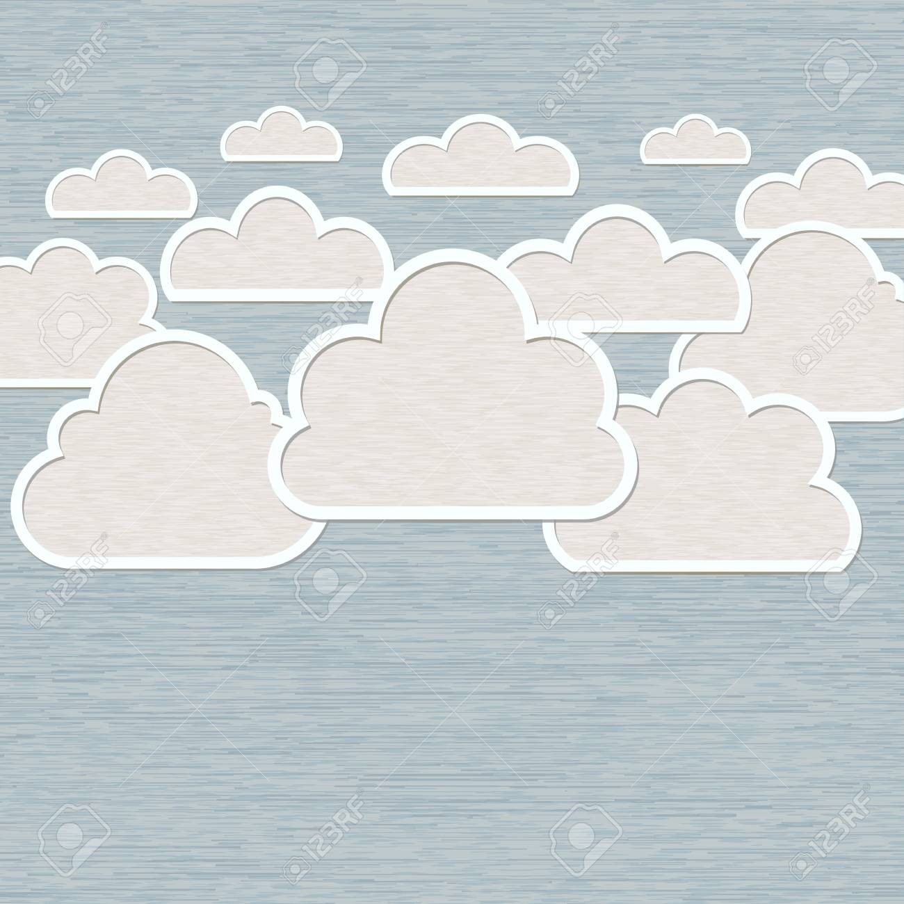 Abstract Cloud on blue background Stock Vector - 20002497