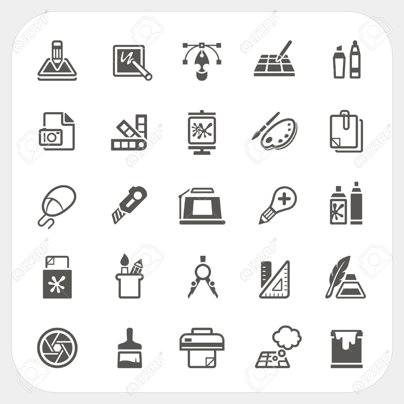 graphic design icons set vector royalty free cliparts vectors