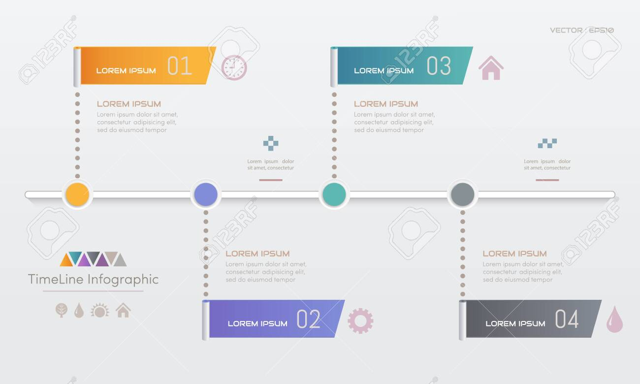 Infographics design template with icons, process diagram, vector eps10 illustration - 136102565