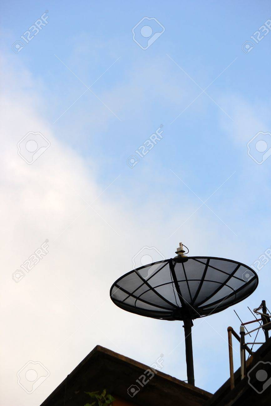 A satellite dish on the roof Stock Photo - 17859625