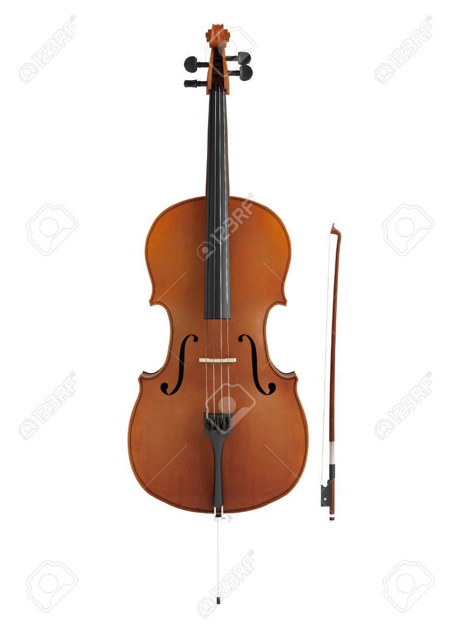 Cello isolated on white background Stock Photo - 9579492