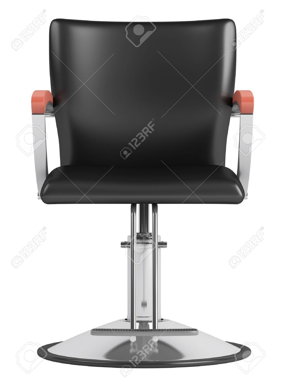 Black salon chairs - Barber Chair Black Hairdressing Salon Chair Isolated On White Background