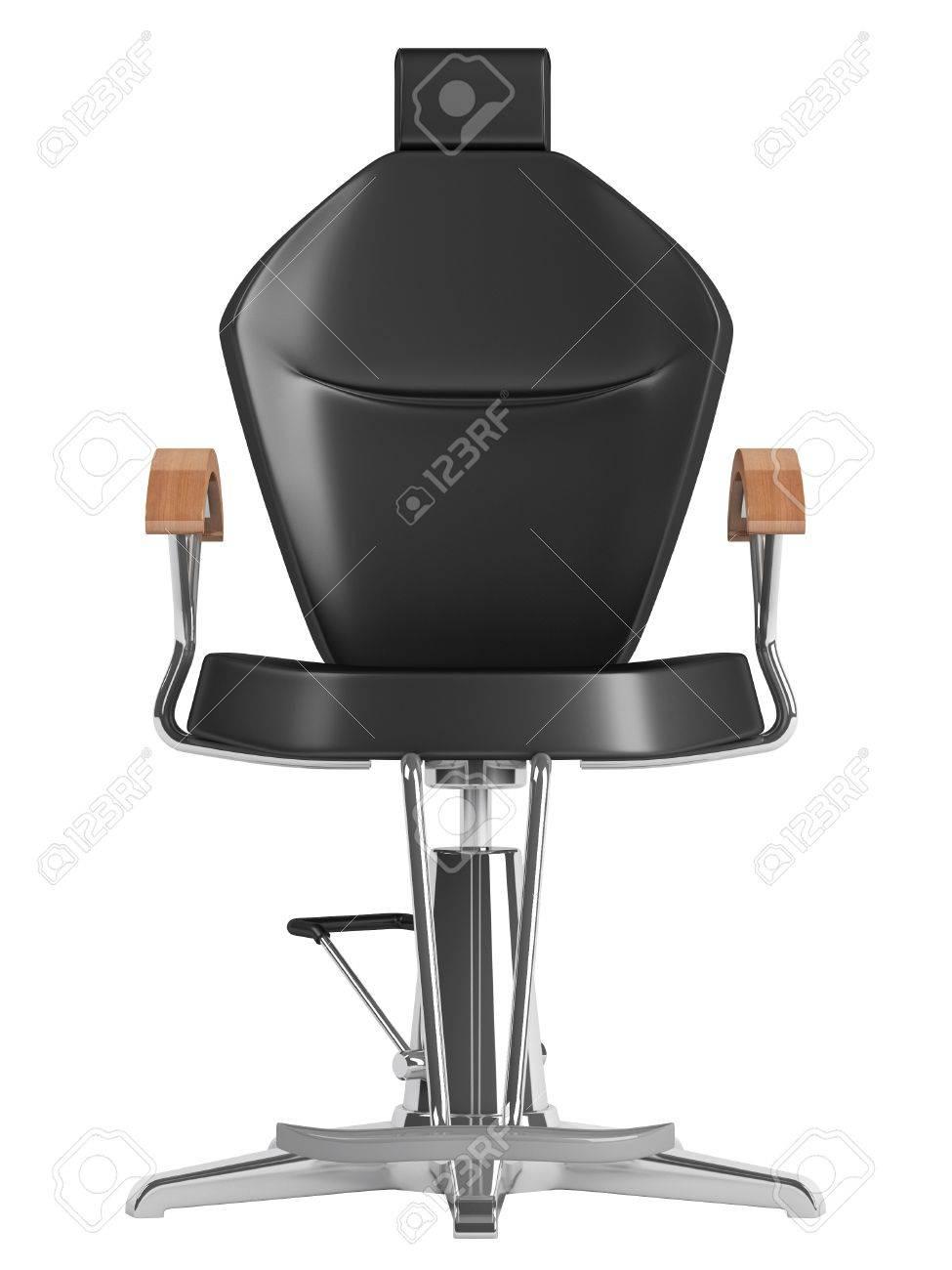 Noir Chaise Salon De Coiffure Isol Sur Fond Blanc Banque DImages