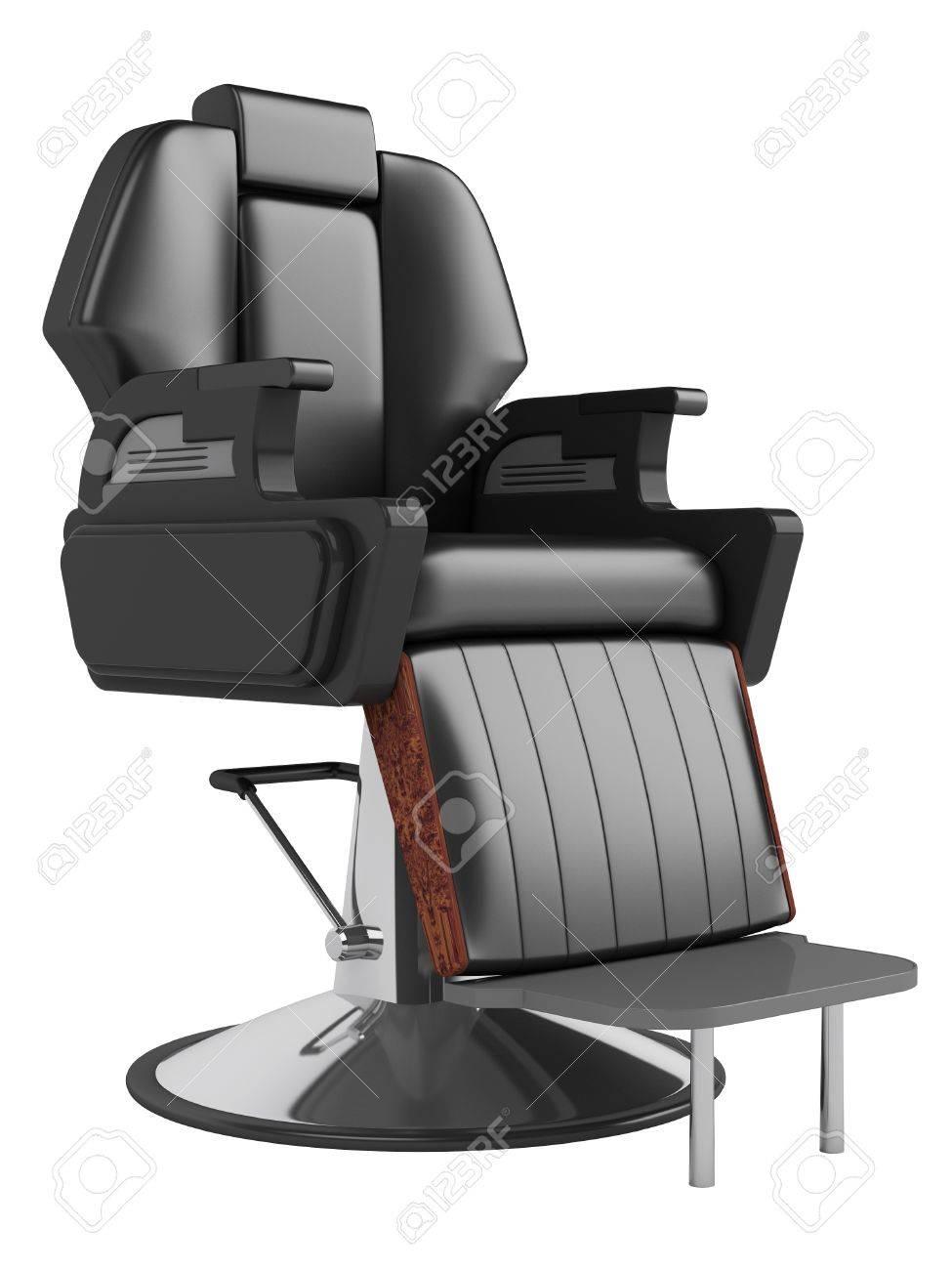Noire Chaise De Salon Coiffure Isol Sur Fond Blanc Banque D