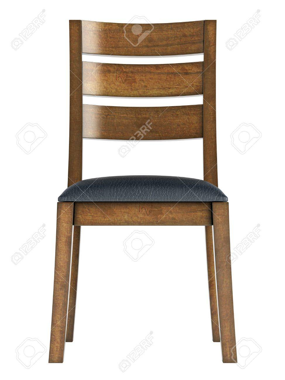 Antique Wooden Chair Isolated On White Background Stock Photo   14221933
