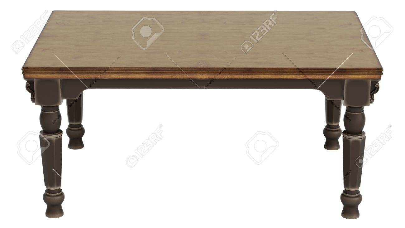 Antique wooden table isolated on white background Stock Photo - 14256717