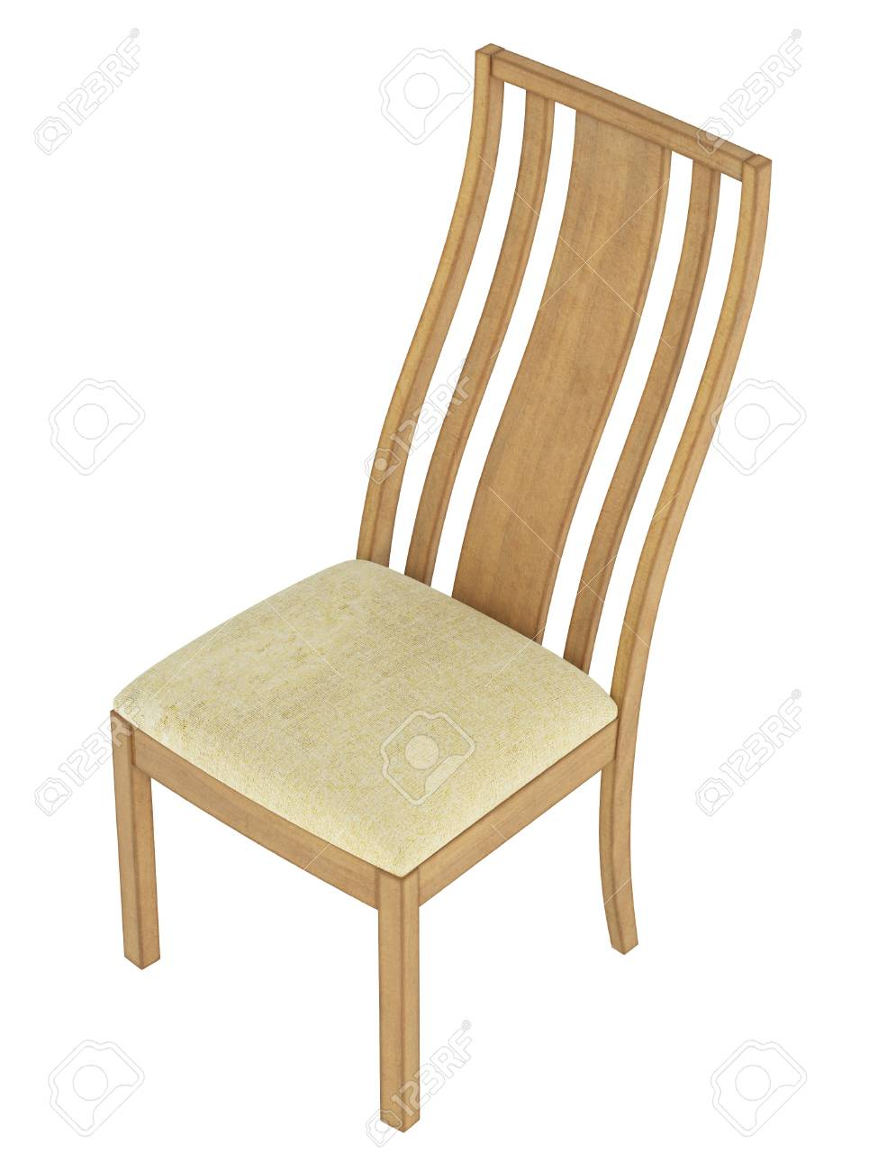 Antique wooden chair isolated on white background Stock Photo - 14256733  sc 1 st  123RF.com & Antique Wooden Chair Isolated On White Background Stock Photo ...