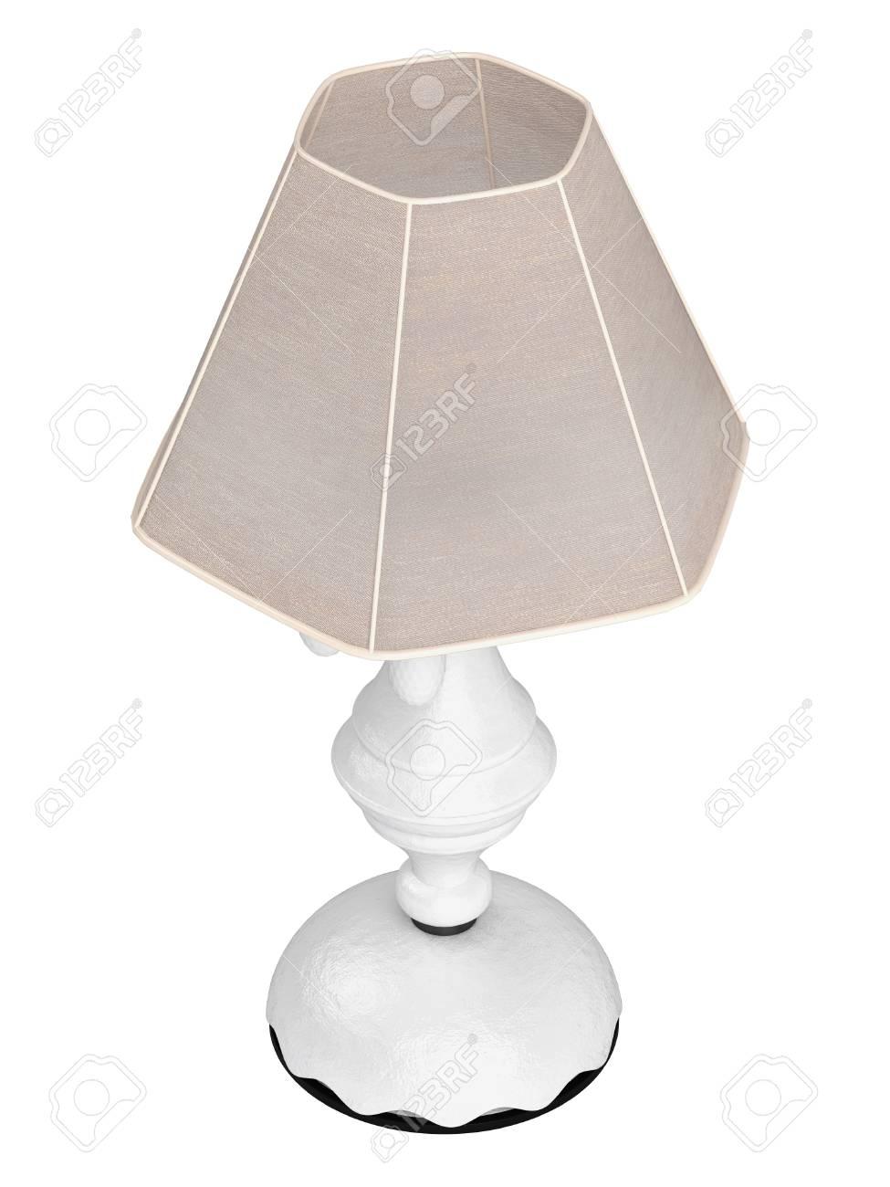 Weiße Lampe Mit Sechseckigen Schatten Für Die Innenausstattung Ihres ...