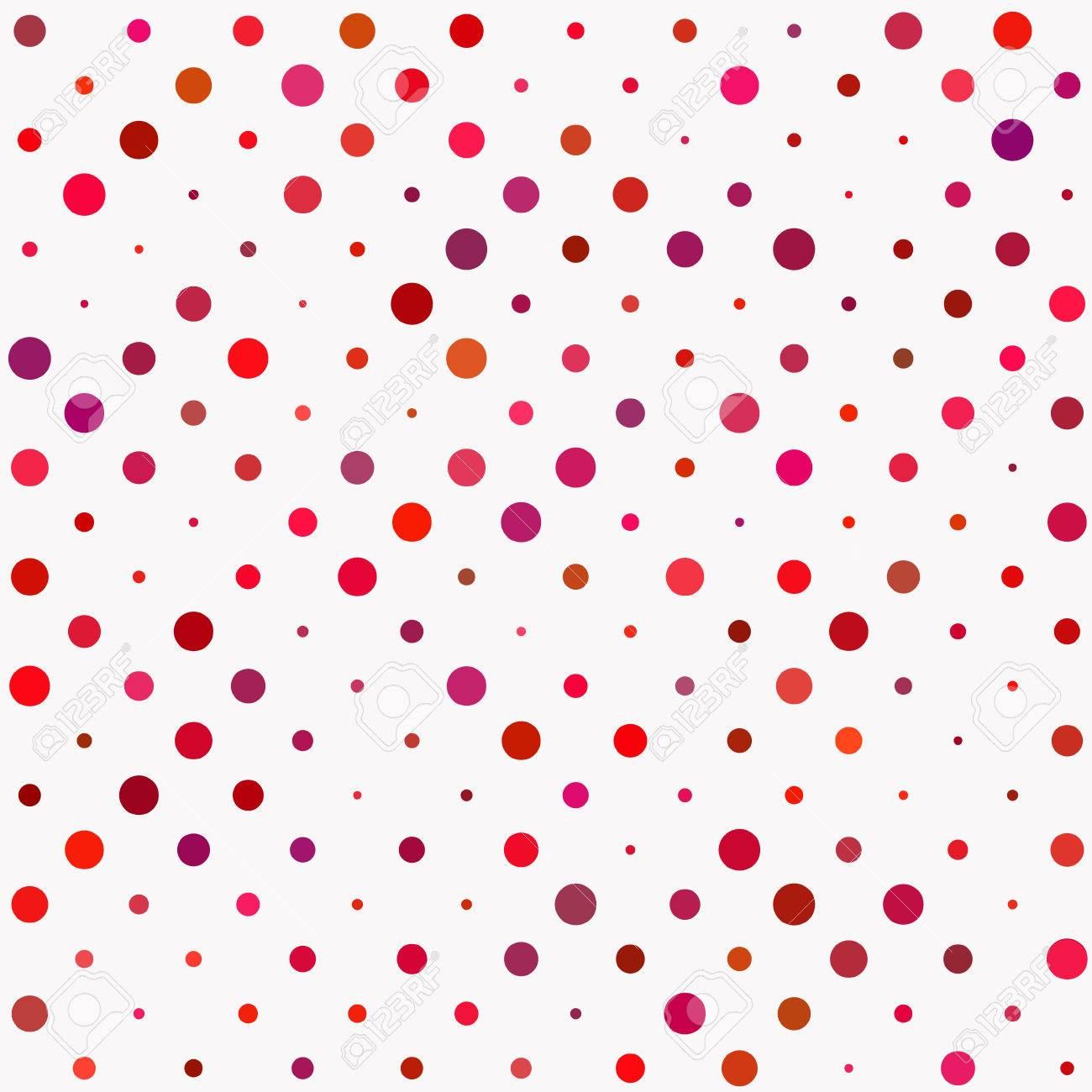 Red And Lilac Polka Dot Seamless Pattern. Abstract Background ...