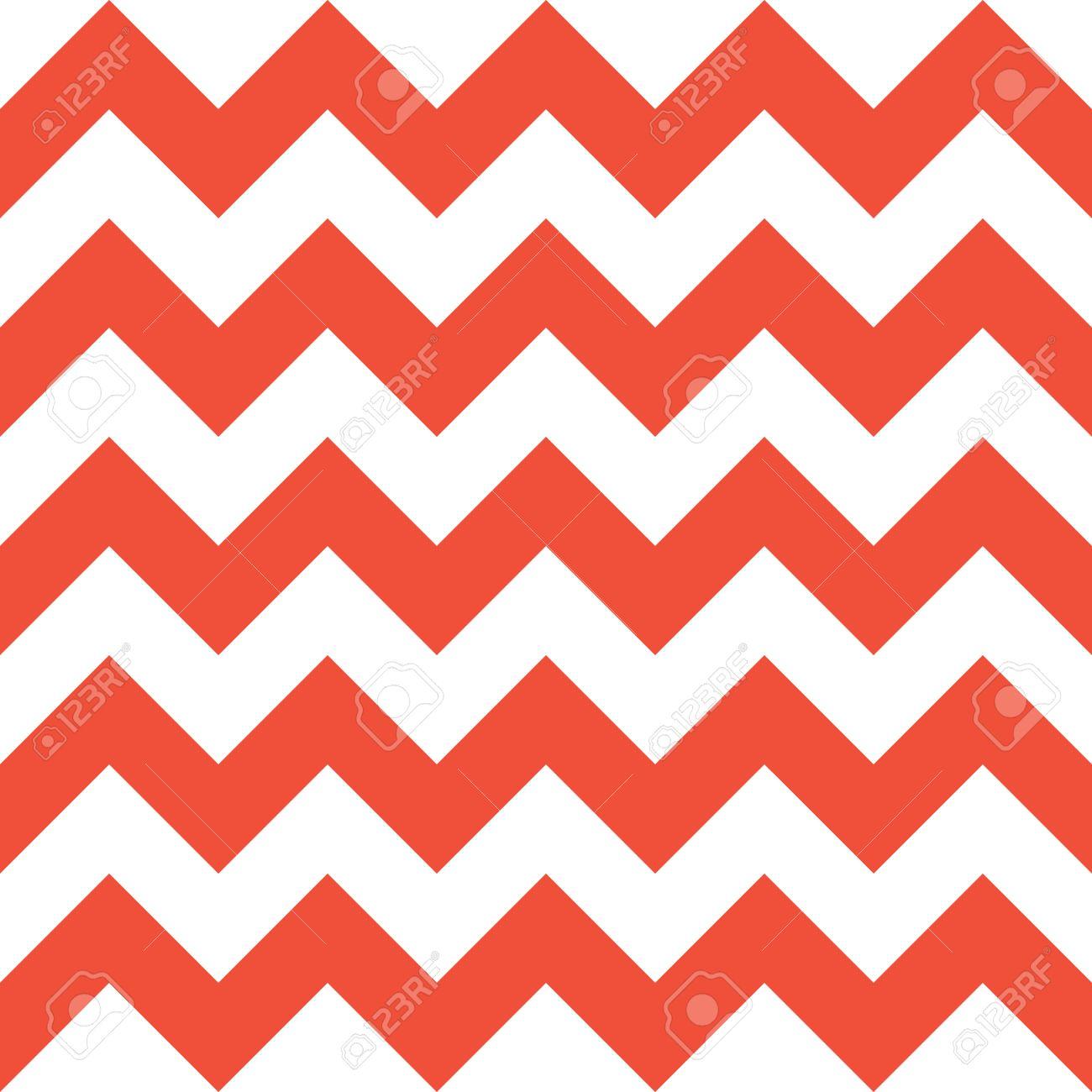 Rote Und Weiße Zickzack-nahtloses Muster. Kontrast Geometrischen ...