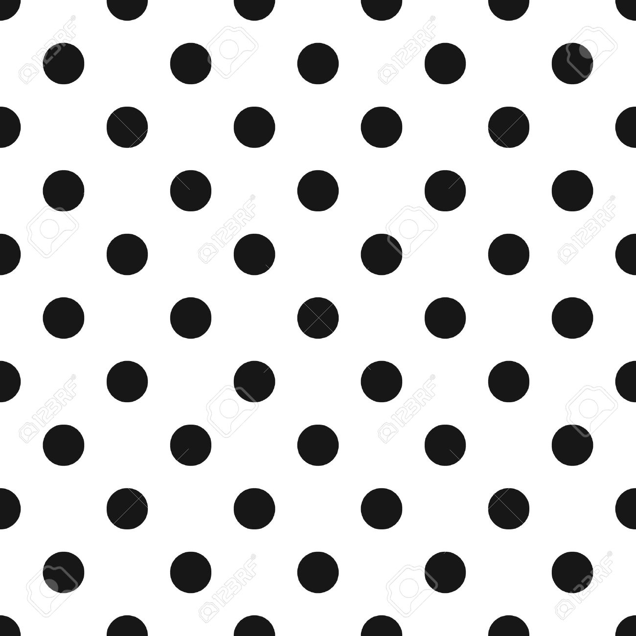 Black And White Polka Dot Seamless Pattern. Classic Abstract ...