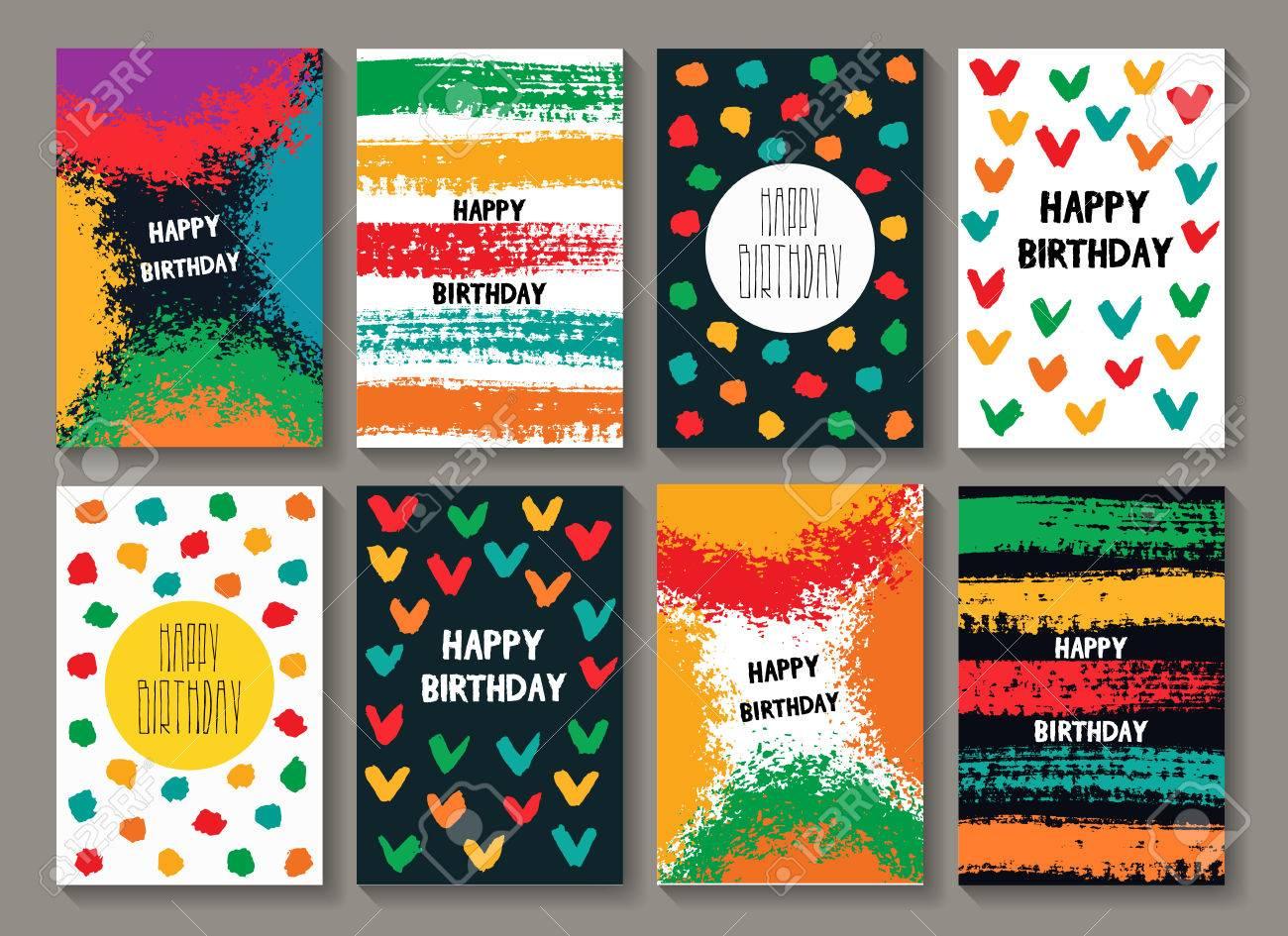 Painted Cartes De Visite Danniversaire Postales Colorees