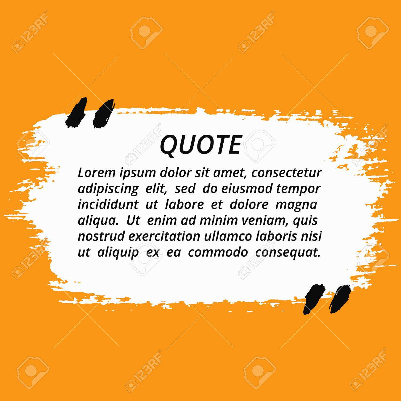 vector quote blank template artistic quote bubble empty template