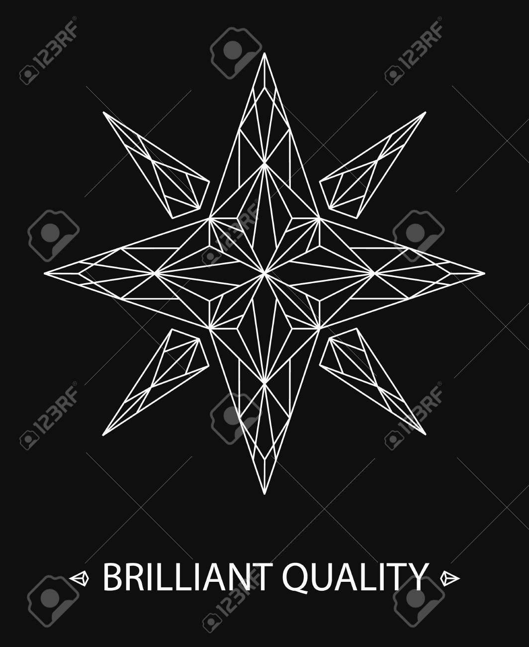 Brilliant star logo on black background elegant line design brilliant star logo on black background elegant line design for corporate identity business card magicingreecefo Gallery