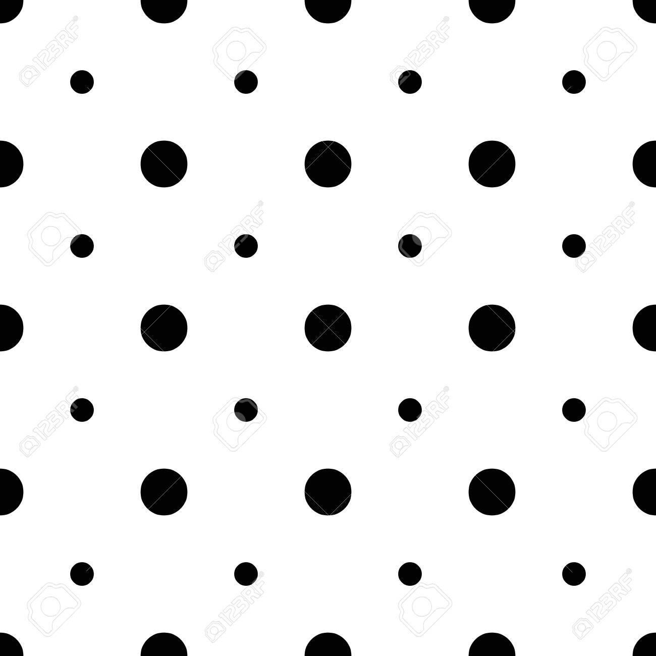 Unusual Big And Small Polka Dot Seamless Pattern Square Arrangement
