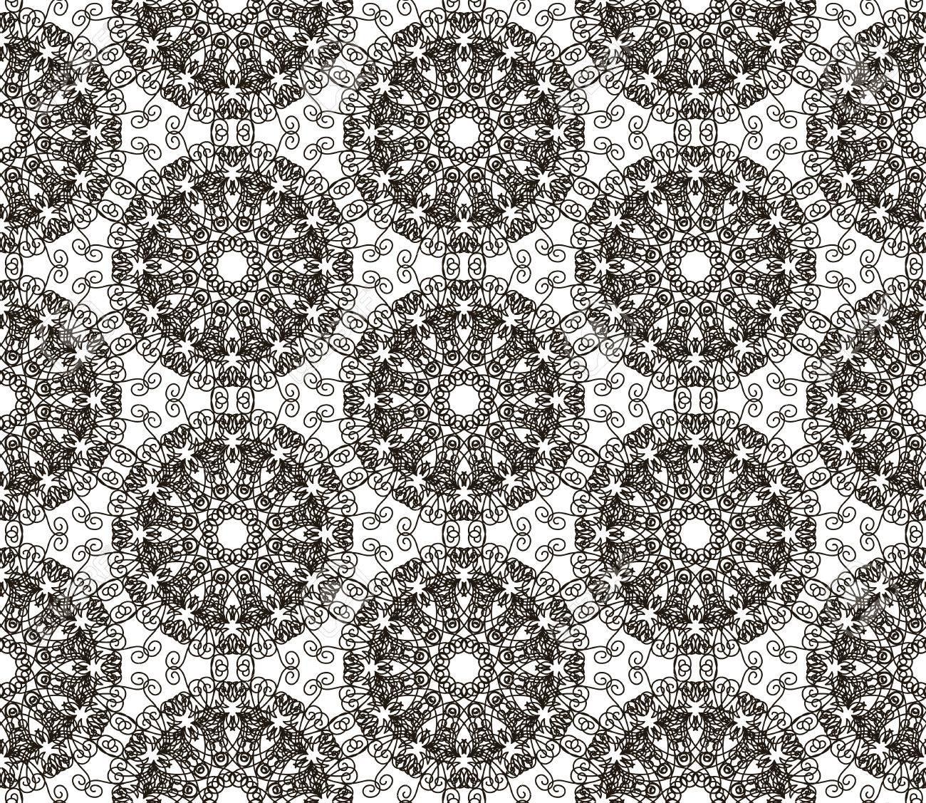 Arredamento Stile Hippie motivo di pizzo intricato motivo floreale senza soluzione di continuità per  la stampa di tessuti, mobili, vestiti di moda. hippie stile boho chic,