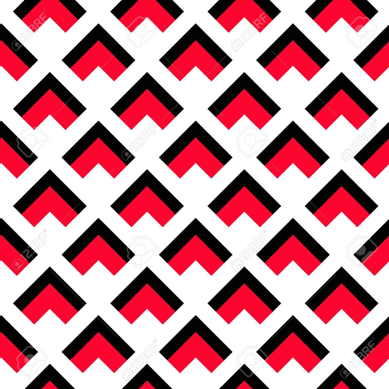 Vector Background Geometric Pattern Black Red Triangle Pattern