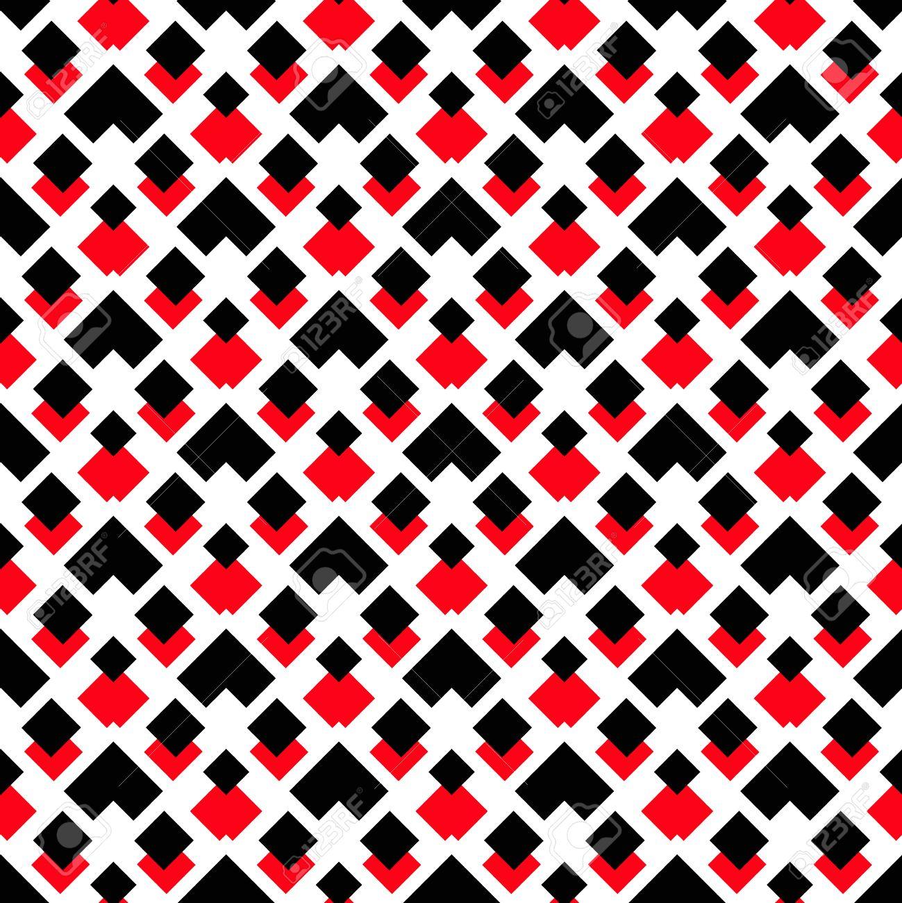 Vecteur De Fond Motif Geometrique Motif Carre Noir Et Rouge Sur Fond Blanc Motif Decoratif Pour Le Papier Peint Les Meubles La Decoration Le