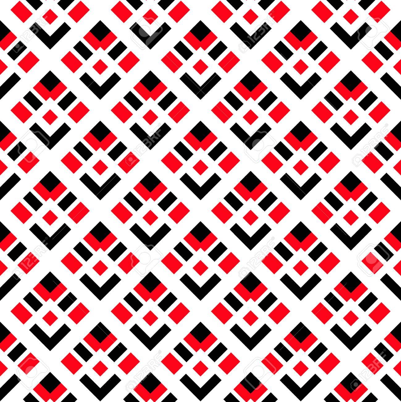 Vecteur De Fond Motif Geometrique Noir Losange Rouge Sur Fond Blanc Motif Decoratif Pour Le Papier Peint Les Meubles La Decoration Le Tissu De
