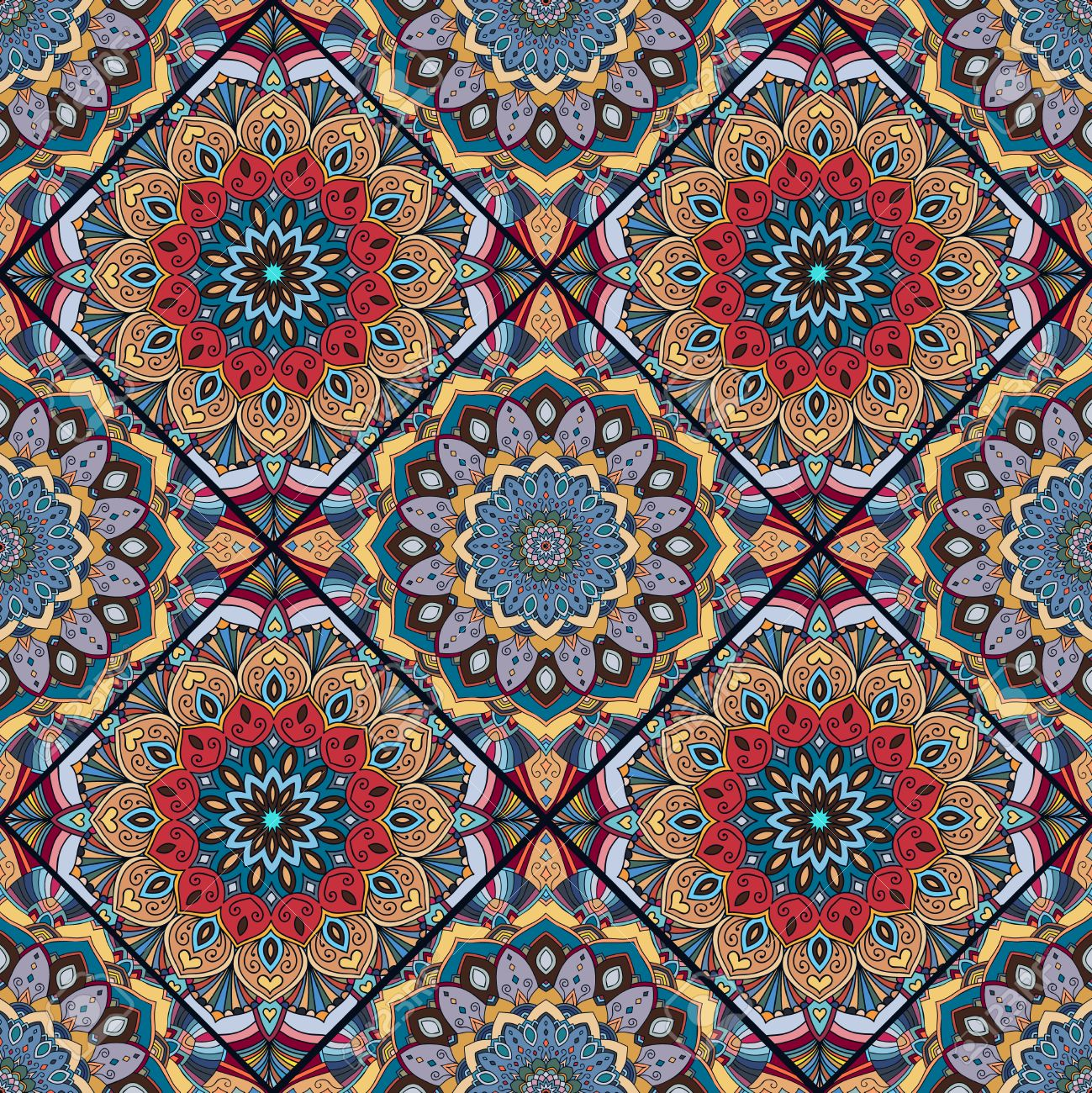 Muebles Hippies Elementos Florales Hippie De Diseo Oriental  # Muebles Hippies