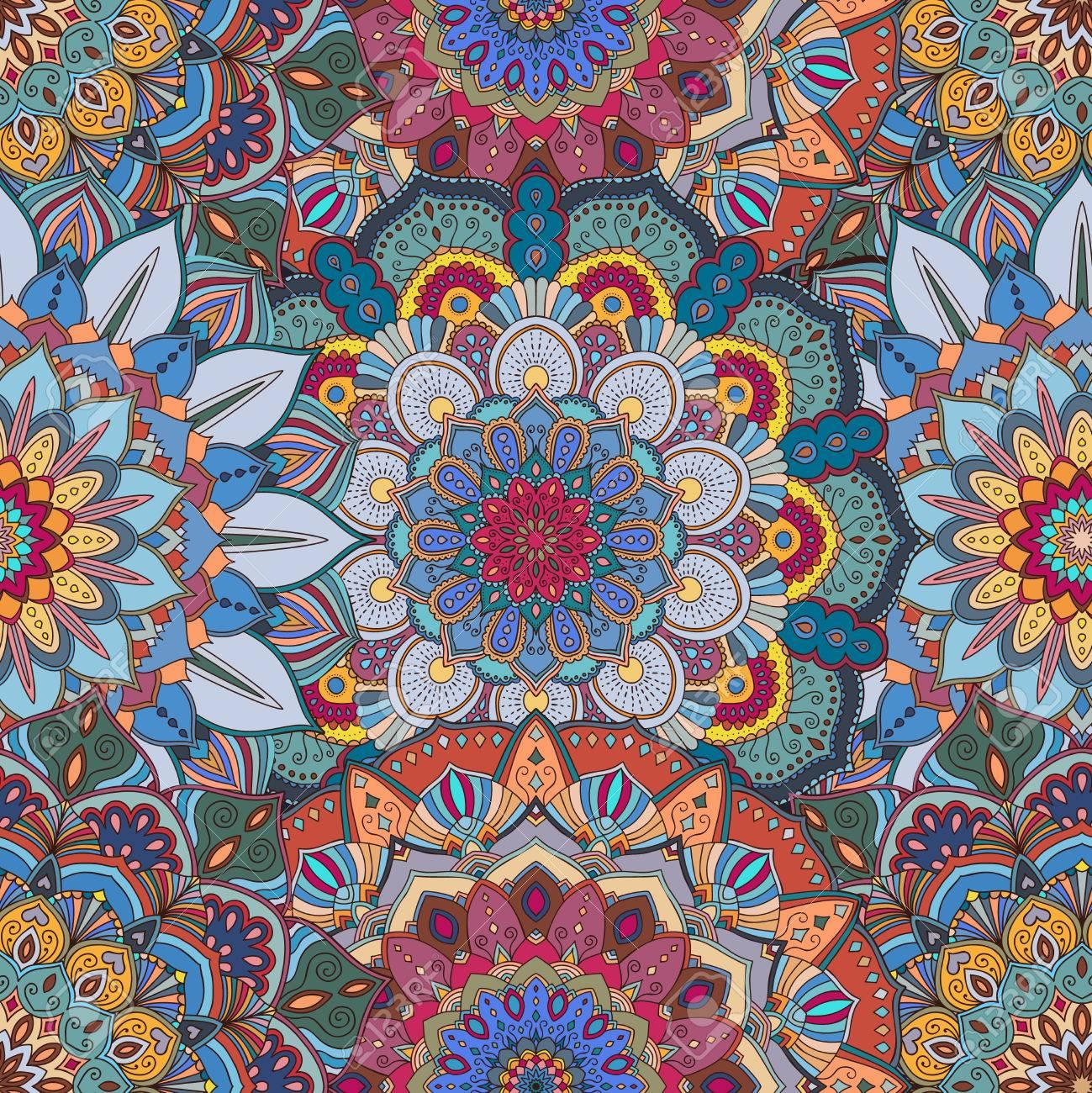 Fond De Fleurs Motif Floral Sans Couture Pour Tissu Imprimé