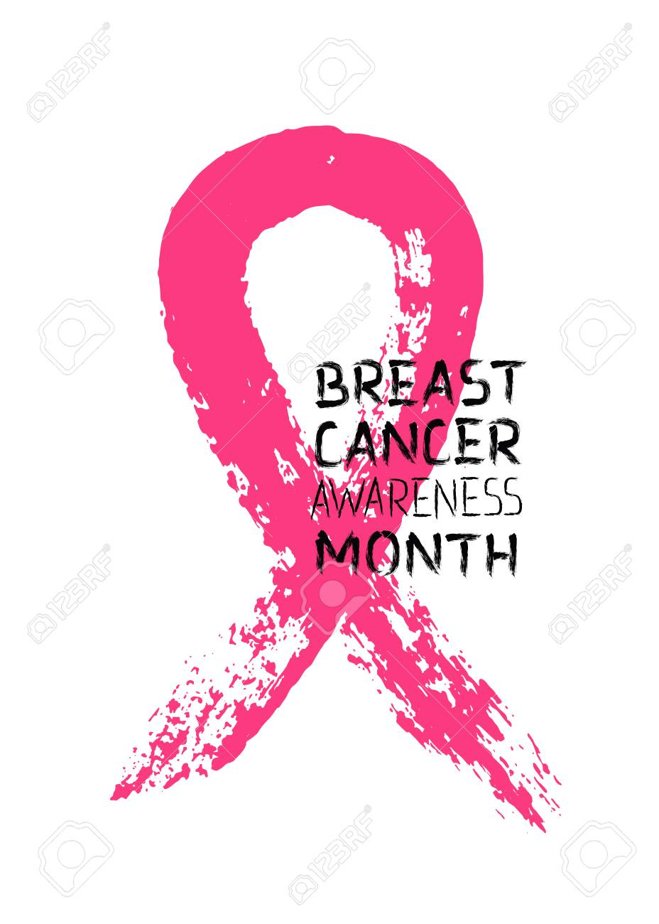 Pink Ribbon Symbol Of Breast Cancer Awareness Month And