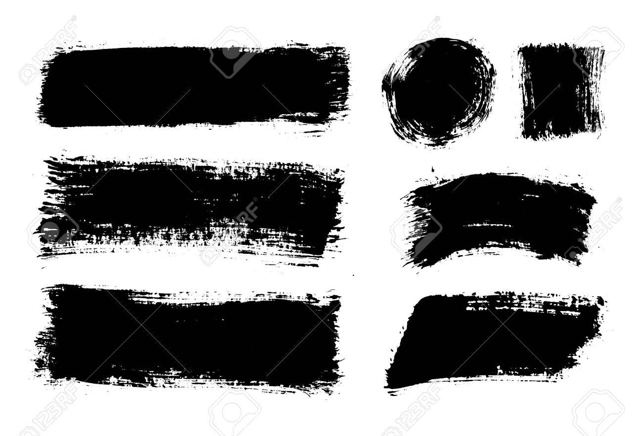 Brush strokes. Vector paintbrushes set. Grunge design elements - 135491749