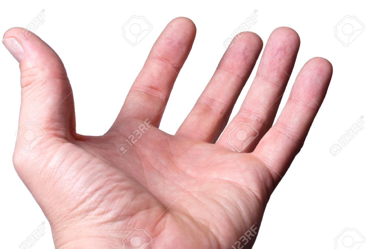 The hand palm up offers the help - 11724275