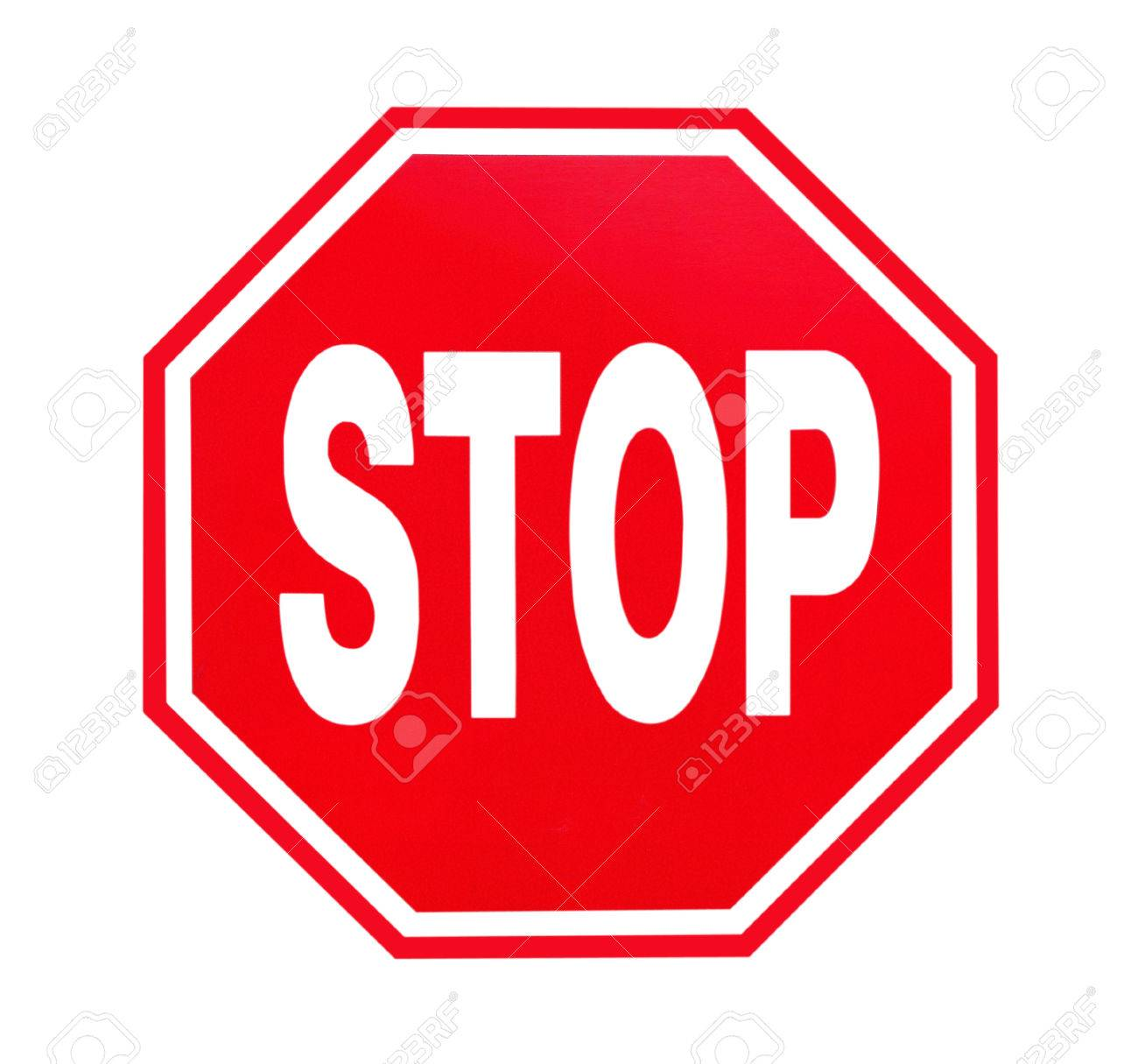stop sign on white background stock photo picture and royalty free