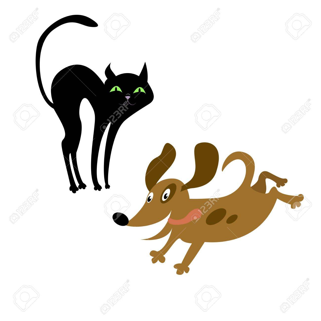Cat and dog Stock Vector - 17354448
