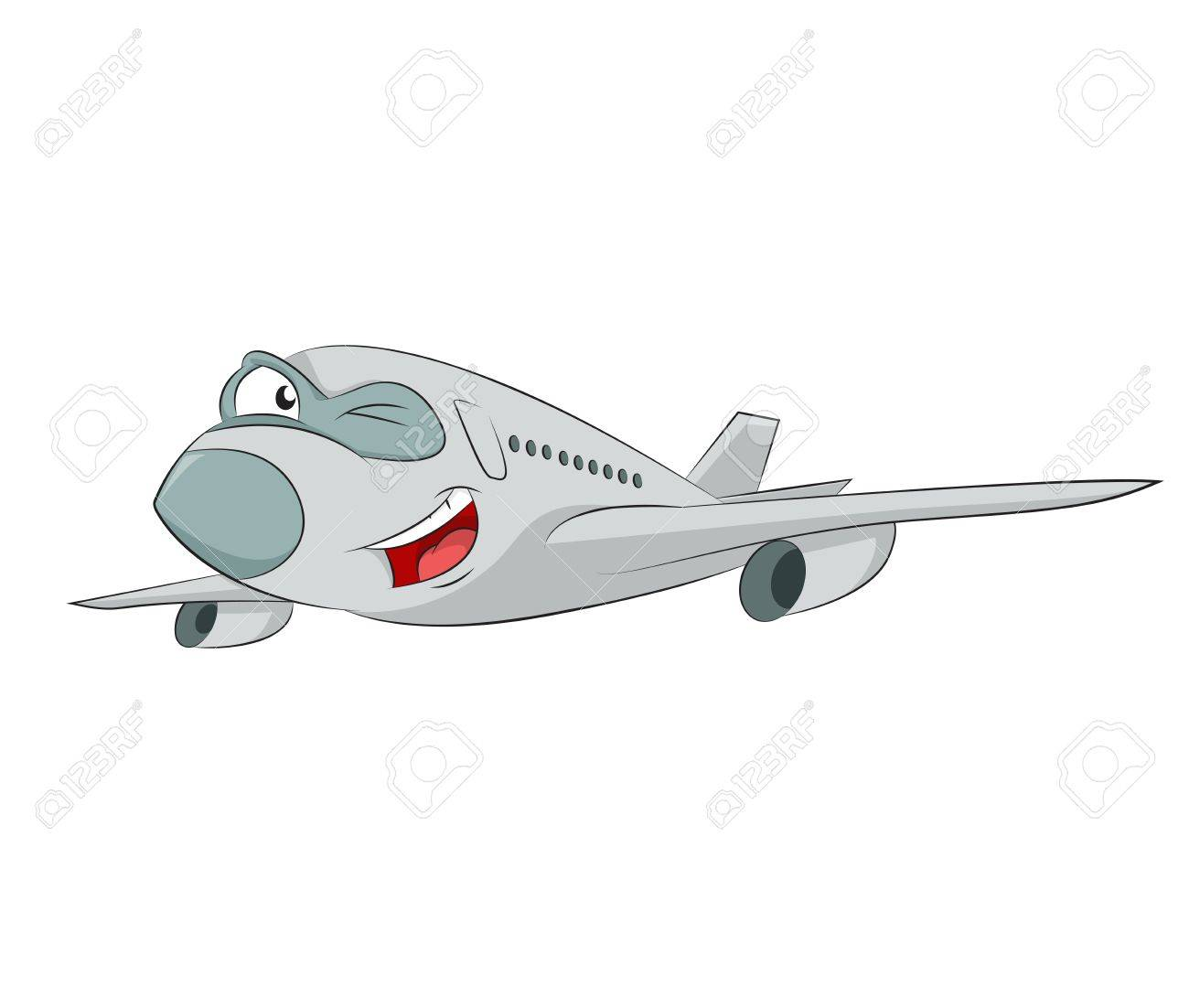 image of funny cartoon smiling plane Stock Vector - 21765493