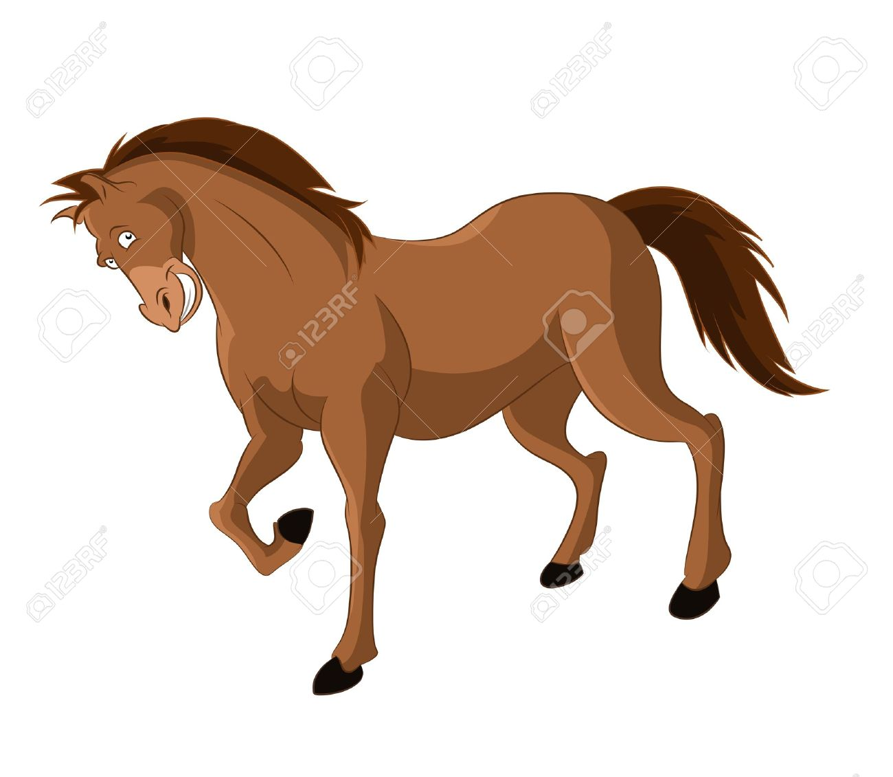 Image Of Funny Cartoon Smiling Horse Royalty Free Cliparts Vectors And Stock Illustration Image 21765563