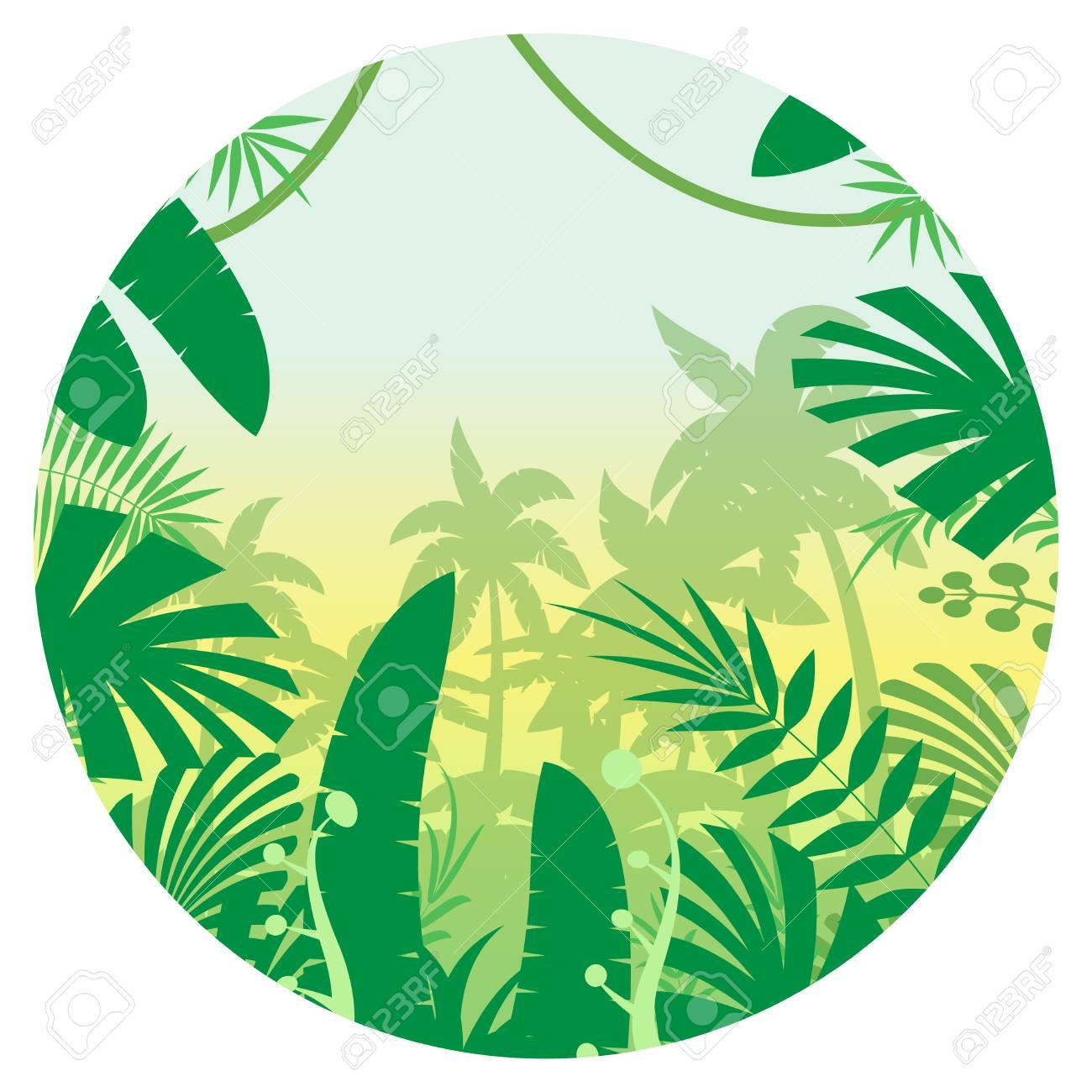 vector image of the jungle flat background royalty free cliparts rh 123rf com vector jungle leaf vector jungle pattern