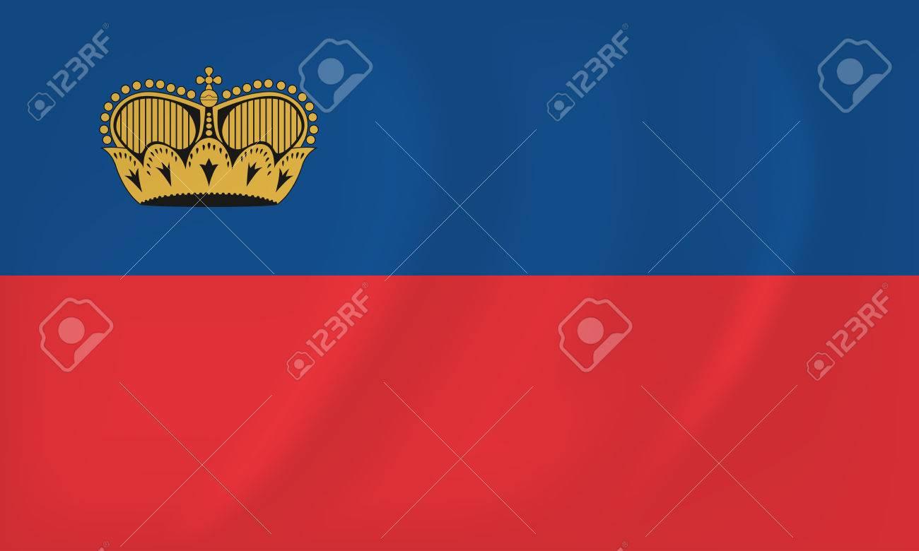 Vector image of the Liechtenstain waving flag - 70482390