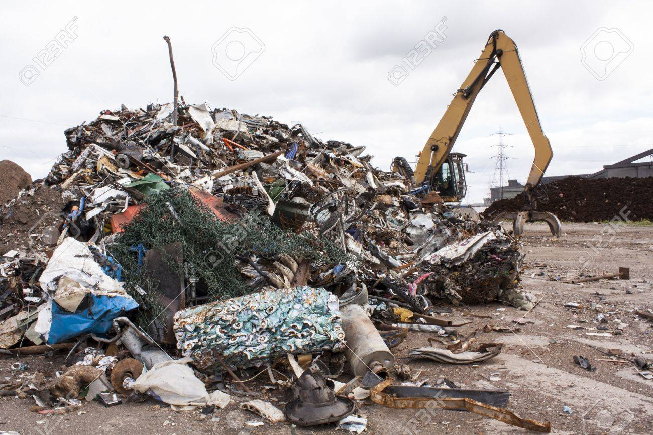 Scrap for recycling in steel making plan Stock Photo - 20710055