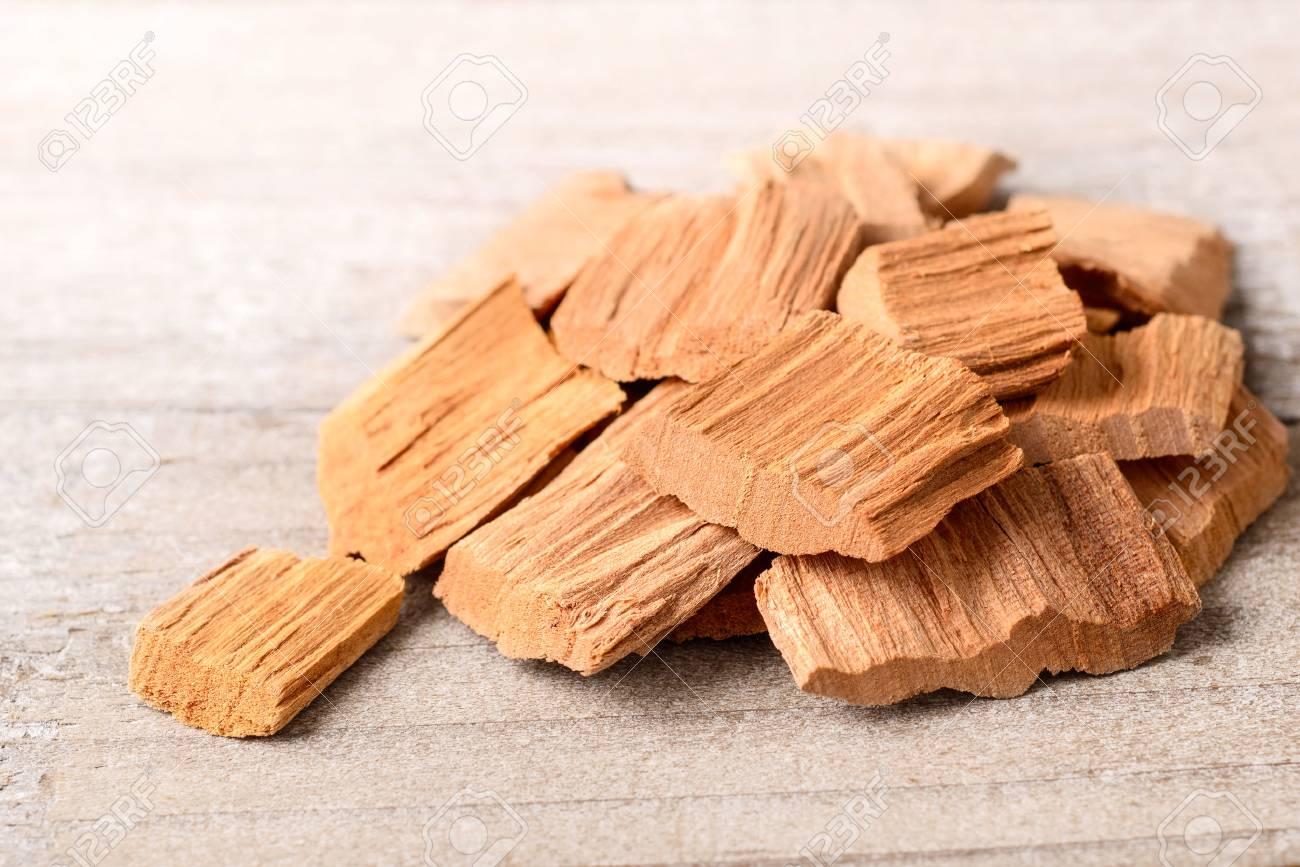 wood block of Sandalwood on the table - 86905490