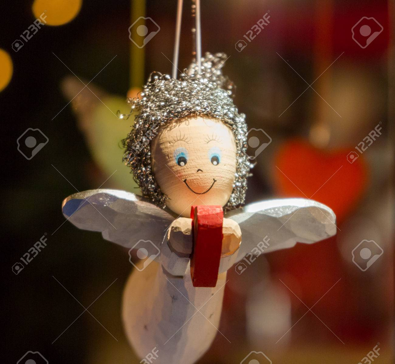 Wooden Angel Holding A Heart As A Christmas Ornament Stock Photo Picture And Royalty Free Image Image 33271128