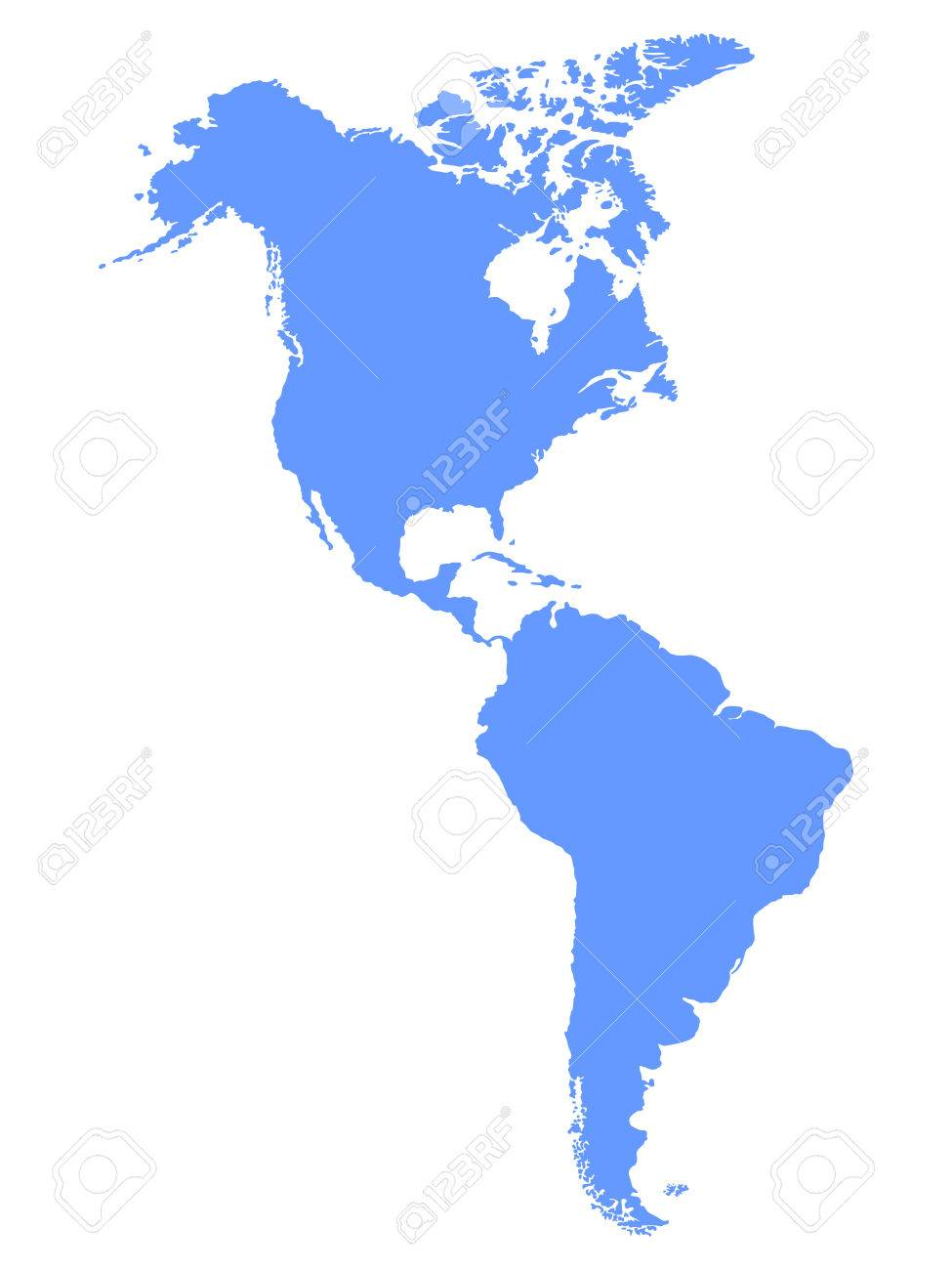 North And South America Map Royalty Free Cliparts Vectors And