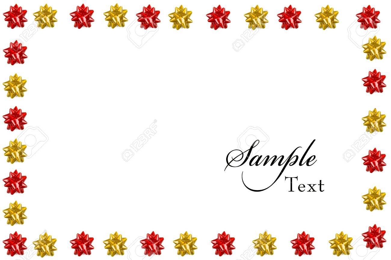 Red Bow Christmas frame Stock Photo - 3851402