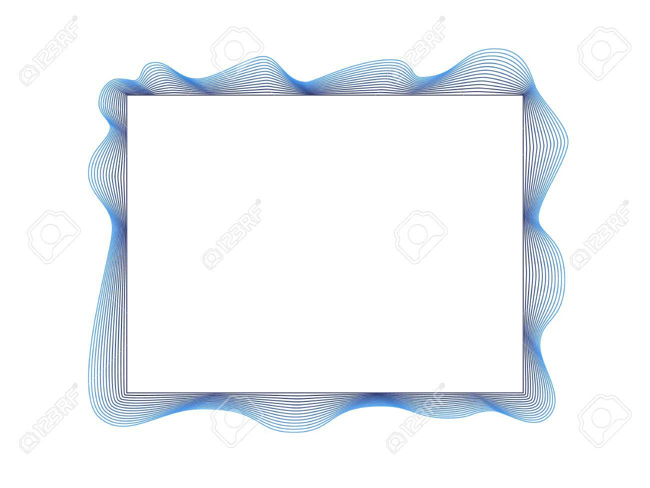 Frame Simple Border Multi Lines Blue Horizontal Stock Vector