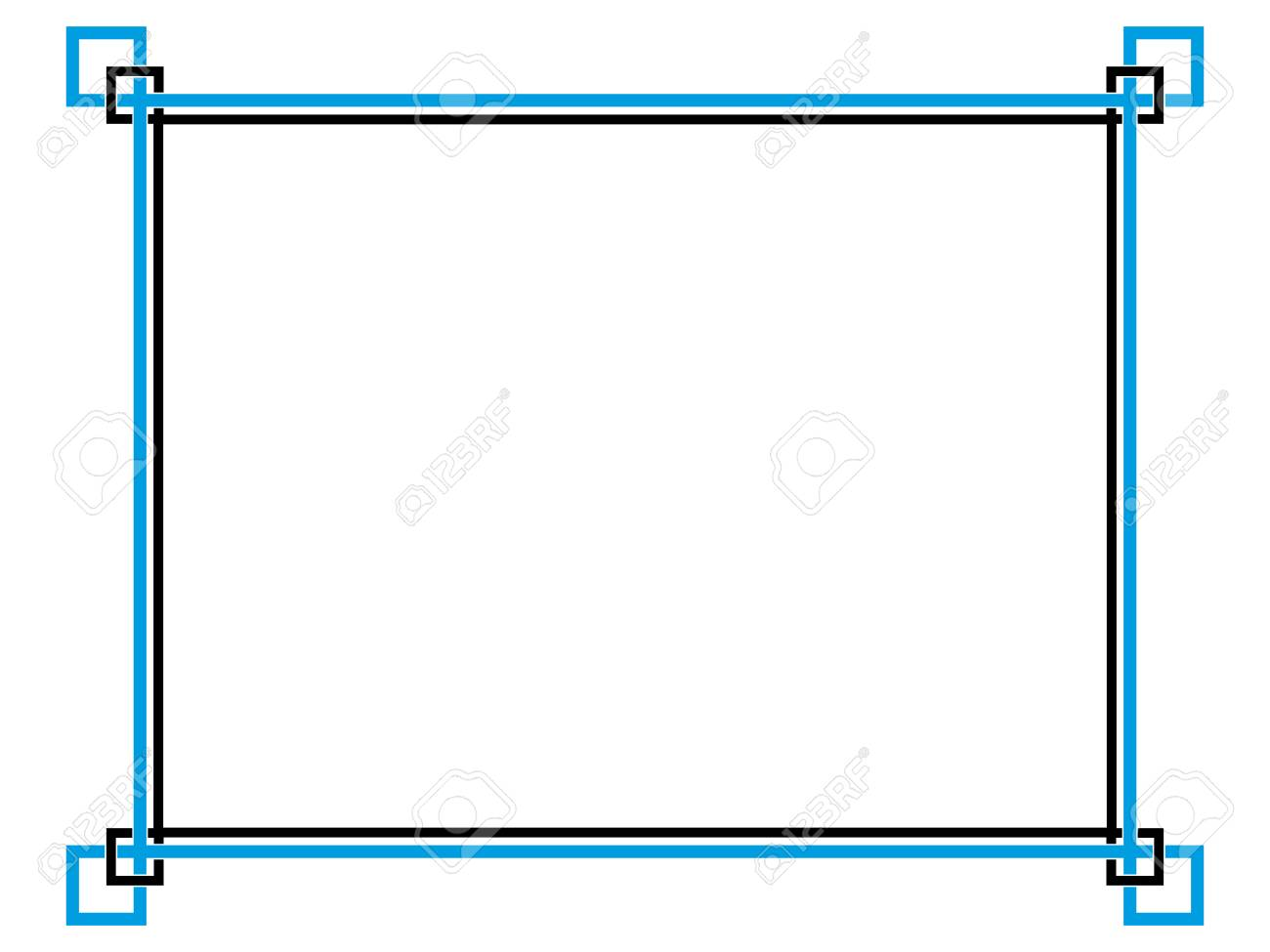 Frame Simple Border Horizontal. Royalty Free Cliparts, Vectors, And ...