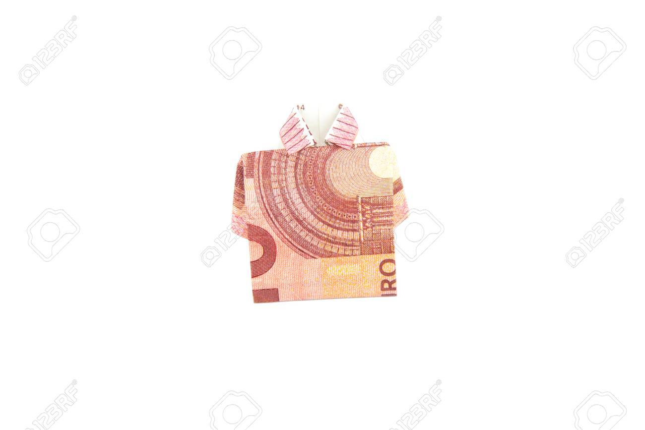 Banknote Ten Euro Shirt Origami Stock Photo Picture And Royalty