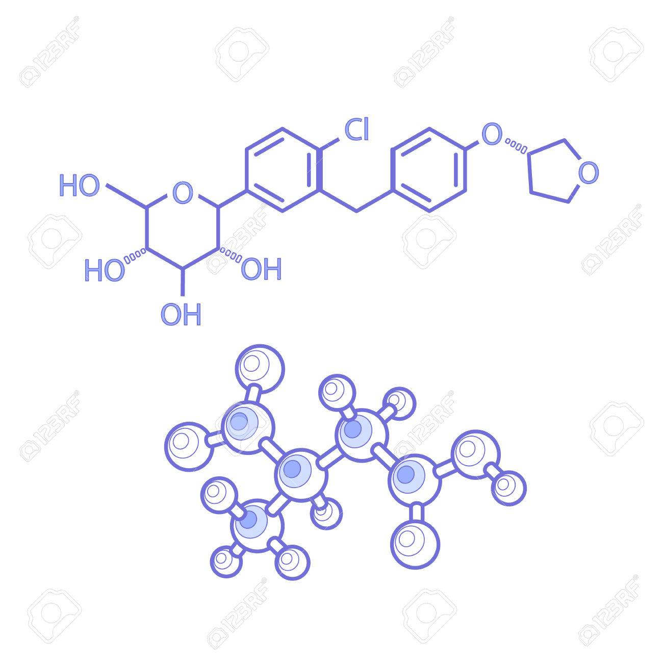 Diagram of the structures of molecules abstract lines amin small diagram of the structures of molecules abstract lines amin small colorful in vector the ccuart Images