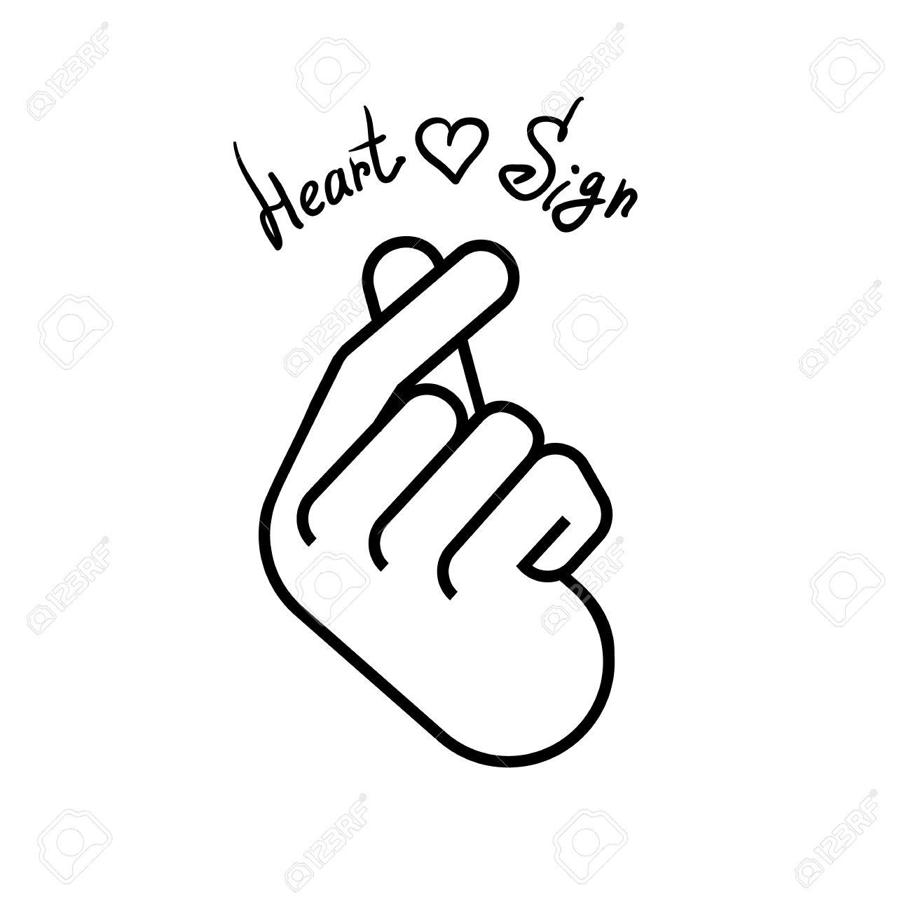 Illustration korean symbol hand heart a message of love hand korean symbol hand heart a message of love hand gesture sign icon biocorpaavc